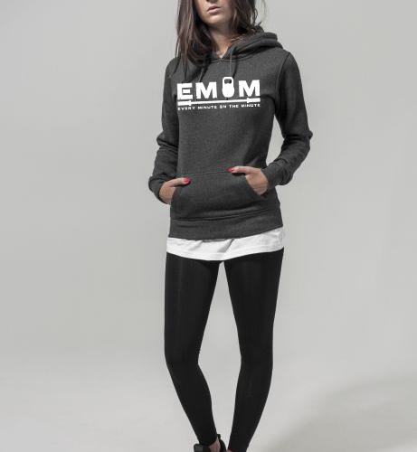 EMOM Every Minute Logo Kapuzenpulli Damen