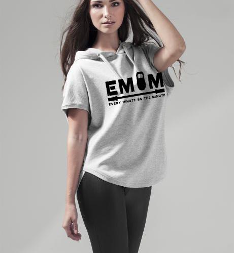 EMOM Logo Sleeveless Hoody Damen