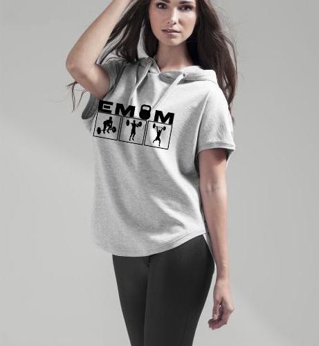 EMOM Logo Clean&Jerk Sleeveless Hoody