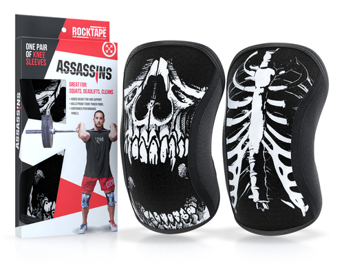 Assasins® Knee Sleeves -- Skull - Kniebandage