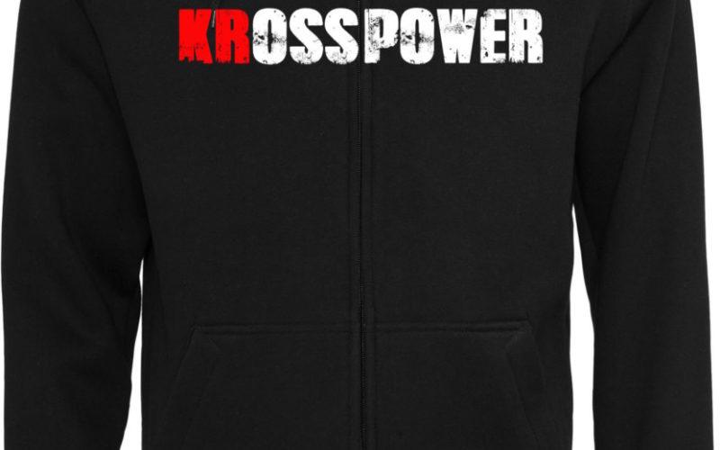 KRosspower Schriftzug Sweatjacke / Kapuzenjacke Männer