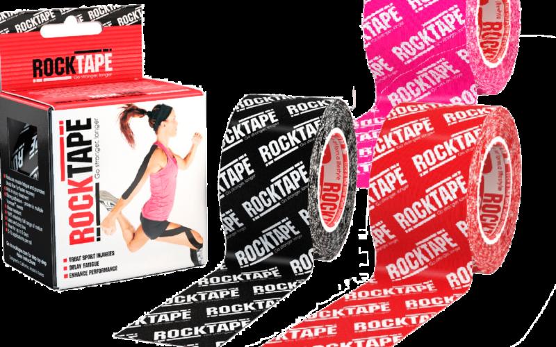 Standard Tape (5cm x 5m) mit Rocktape Print in Schwarz, Rot oder Pink