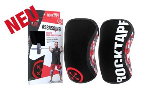 Assasins® Knee Sleeves -- Red Camo - Kniebandagen