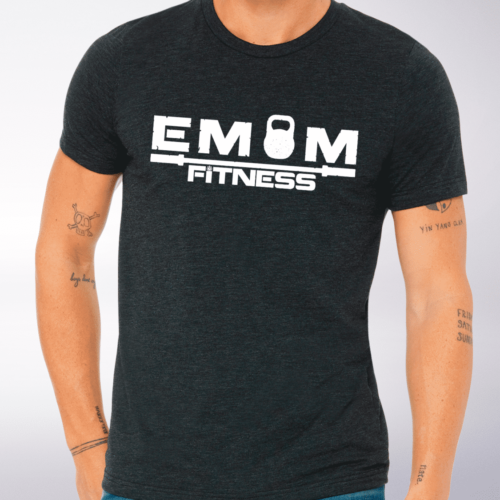 White EMOM Fitness LOGO T-Shirt 4