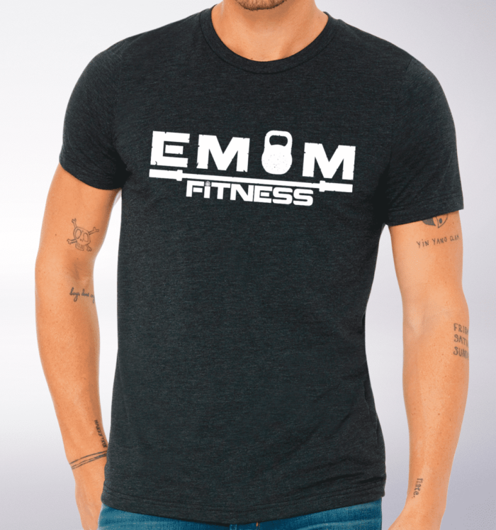 White EMOM Fitness LOGO T-Shirt 2