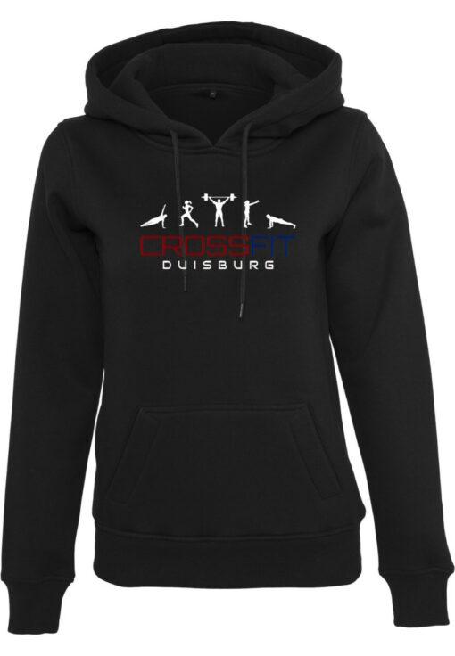 Crossfit® Duisburg Logo Kapuzenpulli Damen - Partner Merchandise 1