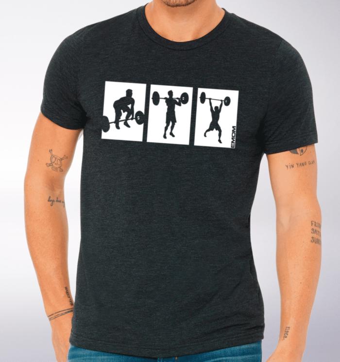 3-Kasten Clean&Jerk T-Shirt Herren - Dunkelgrau 2