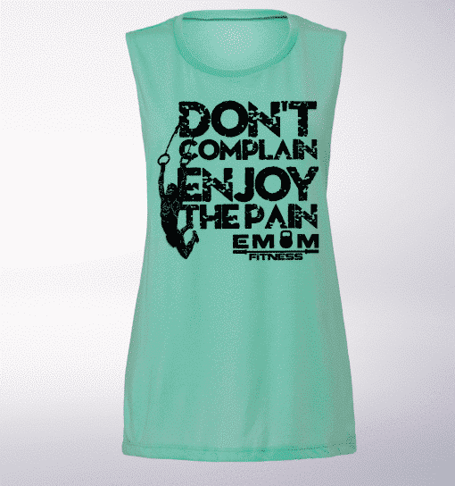White DONT COMPLAIN ENJOY THE PAIN (Frau) Loose Muscle Tank Damen