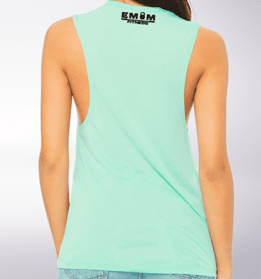Black Barbell&Coffee Loose Muscle Tank Damen - Mint 3