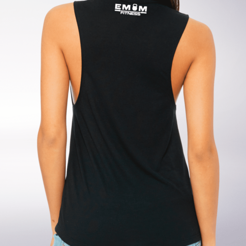 White Time to Lift! Loose Muscle Tank Damen - Black 3
