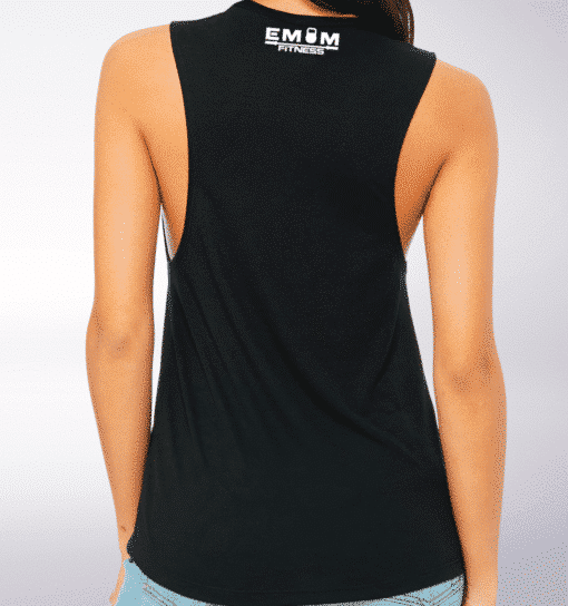White EMOM 3-Kasten-Clean&Jerk Loose Muscle Tank Damen - Black 5
