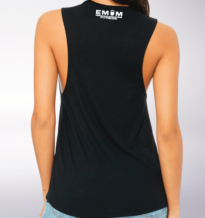 White Time to Lift! Loose Muscle Tank Damen - Black 2