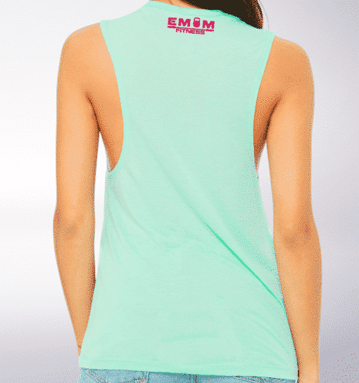 Pink Time to Lift! Loose Muscle Tank Damen - Mint 5