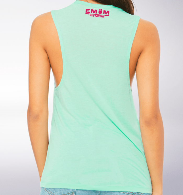 Pink WOD THE FUCK Loose Muscle Tank Damen - Mint 3