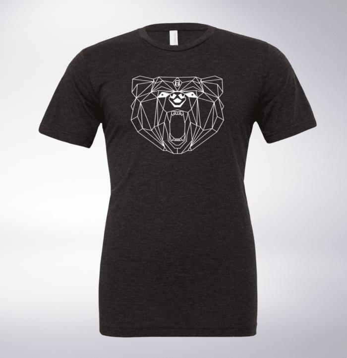 White Bärenkopf (vorne) T-Shirt Herren Shirt - Dunkelgrau 1