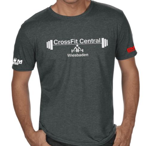 Crossfit® Central Wiesbaden T-Shirt für Herren - Logo Shirt für Coaches