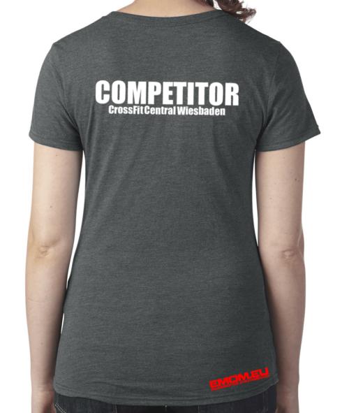 Crossfit® Central Wiesbaden Shirt für Damen – Logo  & Competitor
