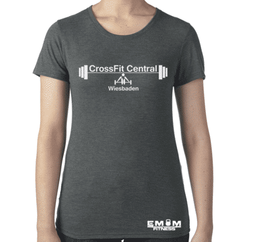 Crossfit® Central Wiesbaden Shirt für Damen – Logo & Heart of Wiesbaden 2
