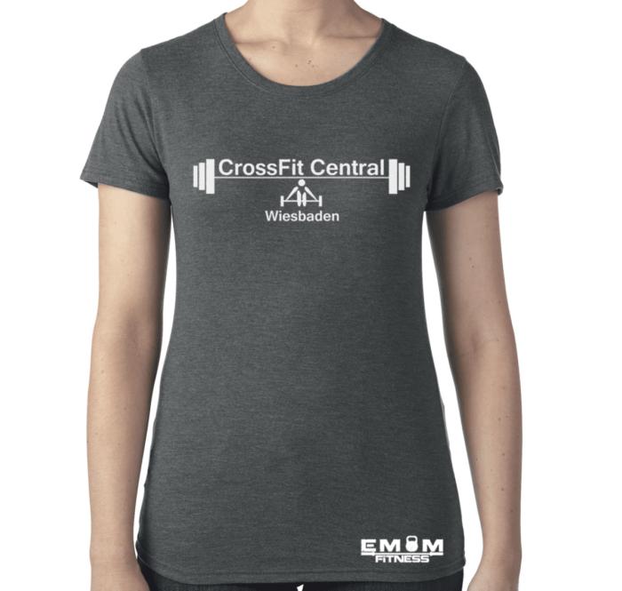 Crossfit® Central Wiesbaden Shirt für Damen – Logo & Coach 2