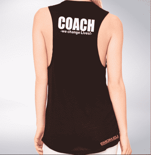 Crossfit® Central Wiesbaden Loose MuscleTank für Damen – Logo & Coach 1