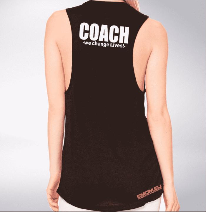 Crossfit® Central Wiesbaden Loose MuscleTank für Damen – Logo & Coach 1