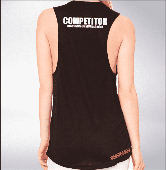 Crossfit® Central Wiesbaden Loose MuscleTank für Damen – Logo & Competitor 1