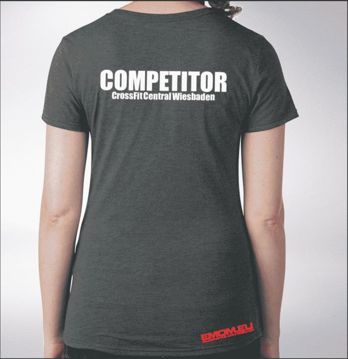 Crossfit® Central Wiesbaden Shirt für Damen – Logo & Competitor 1