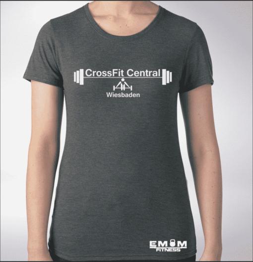 Crossfit® Central Wiesbaden Shirt für Damen – Logo 1