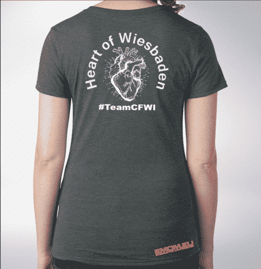 Crossfit® Central Wiesbaden Shirt für Damen – Logo & Heart of Wiesbaden 1