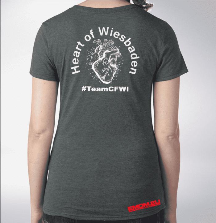 Crossfit® Central Wiesbaden Shirt für Damen – Logo & Heart of Wiesbaden 1