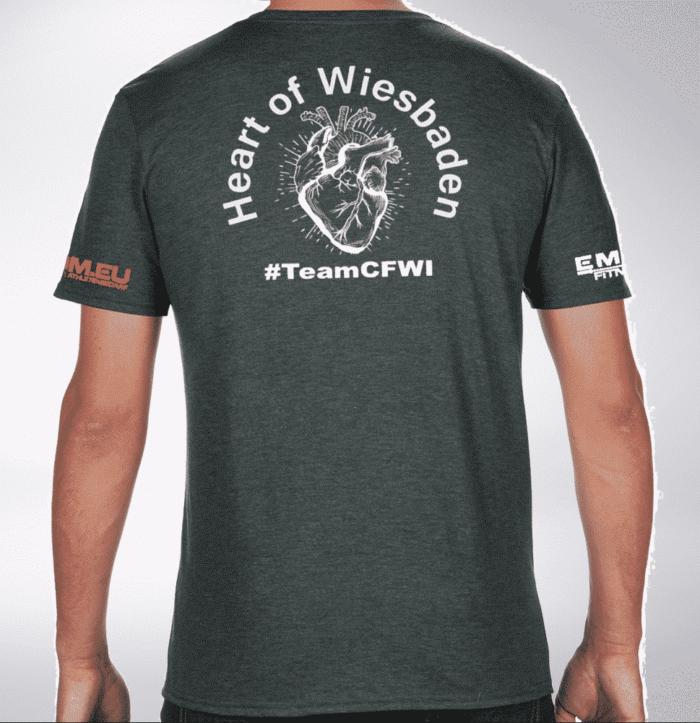 Crossfit® Central Wiesbaden T-Shirt für Herren - Logo vorne / Heart of Wiesbaden hinten 1
