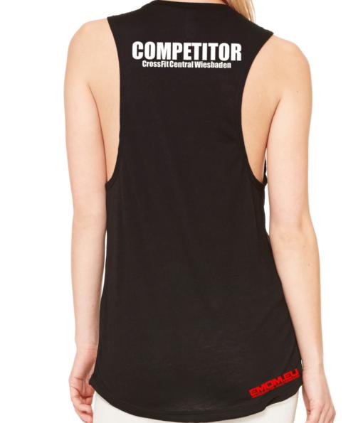 Crossfit® Central Wiesbaden Loose MuscleTank für Damen – Logo & Competitor