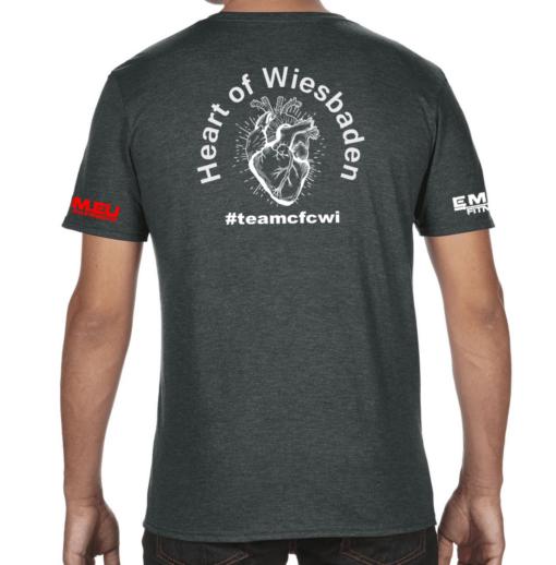 Crossfit® Central Wiesbaden T-Shirt für Herren - Logo vorne / Heart of Wiesbaden hinten