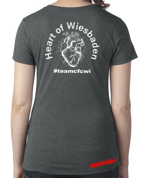 Crossfit® Central Wiesbaden Shirt für Damen – Logo & Heart of Wiesbaden