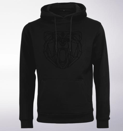 Black - Spirit Animal Bär Unisex- PremiumHoody - Schwarz 1