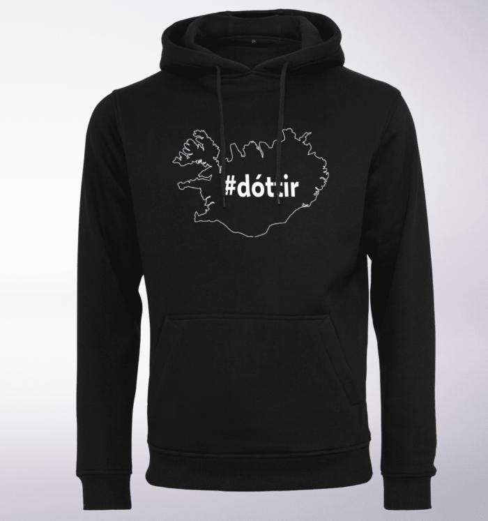 White - dottir ICELAND Unisex-Hoody - Schwarz 1