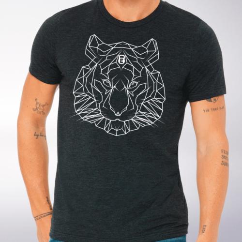 Spirit Animal - Tiger T-Shirt Herren - Dunkelgrau 4