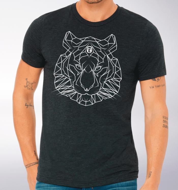 Spirit Animal - Tiger T-Shirt Herren - Dunkelgrau 2
