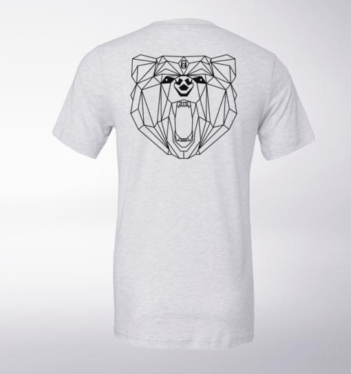 Black Bärenkopf (hinten) T-Shirt Herren - WeißHeather