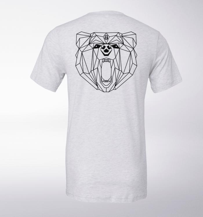 Black Bärenkopf (hinten) T-Shirt Herren - WeißHeather 1