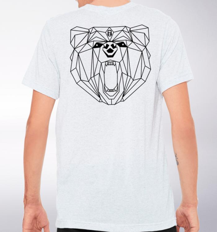 Black Bärenkopf (hinten) T-Shirt Herren - WeißHeather 2