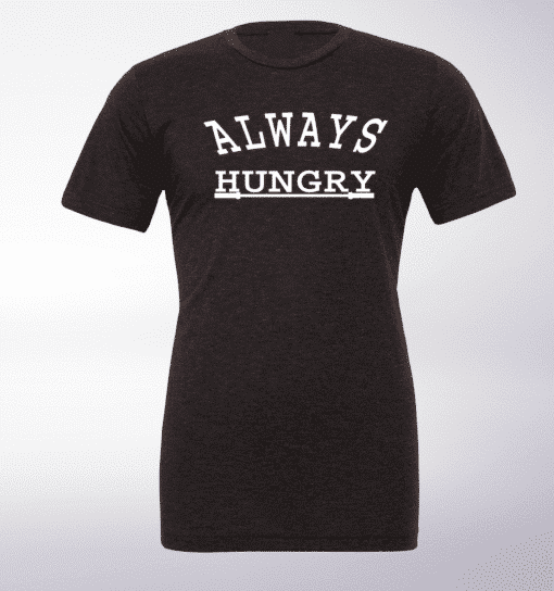 Always Hungry T-Shirt Herren - Dunkelgrau