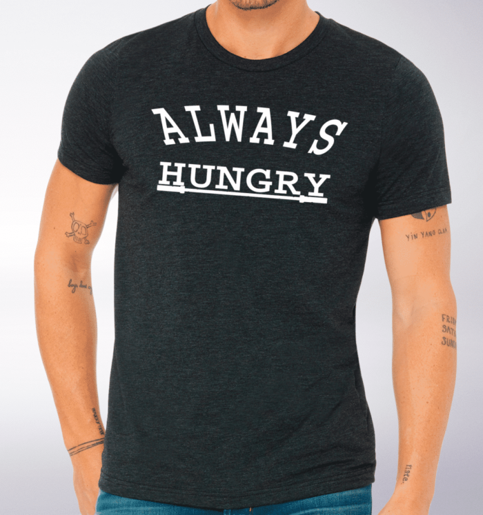 Always Hungry T-Shirt Herren - Dunkelgrau 2