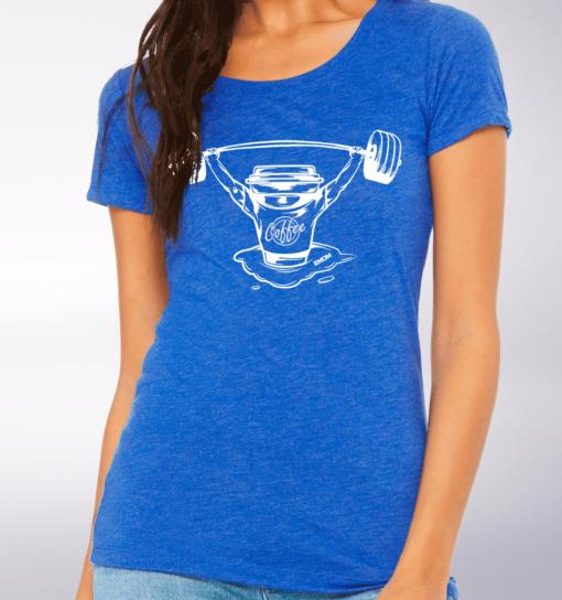 White - Heartbeat Damen-Shirt - Blau 2