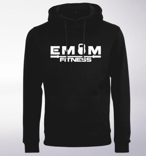 White - EMOM Fitness Unisex- PremiumHoody - Schwarz