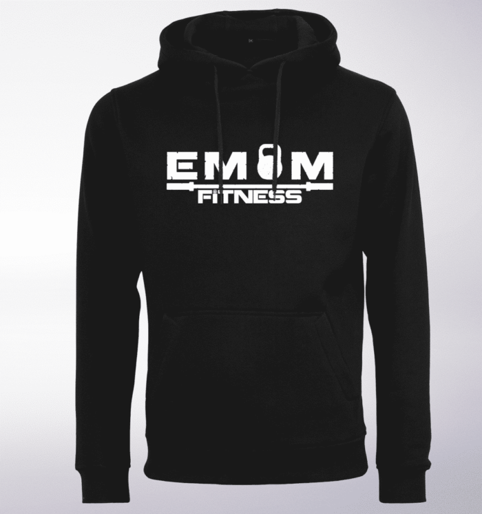 White - EMOM Fitness Unisex- PremiumHoody - Schwarz 1