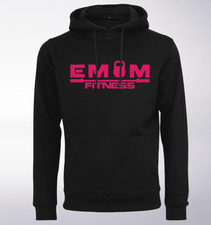 Pink - EMOM Logo Unisex- PremiumHoody - Schwarz 1