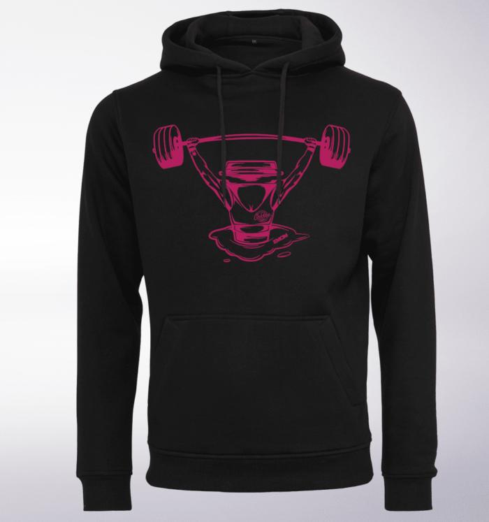 Pink - Coffee&Barbell Lady Unisex- PremiumHoody - Schwarz 1