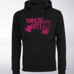 Pink - Time to Lift! Logo Unisex- PremiumHoody - Schwarz