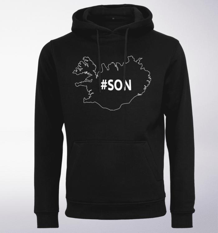 White - son ICELAND Unisex-Hoody - Schwarz 1